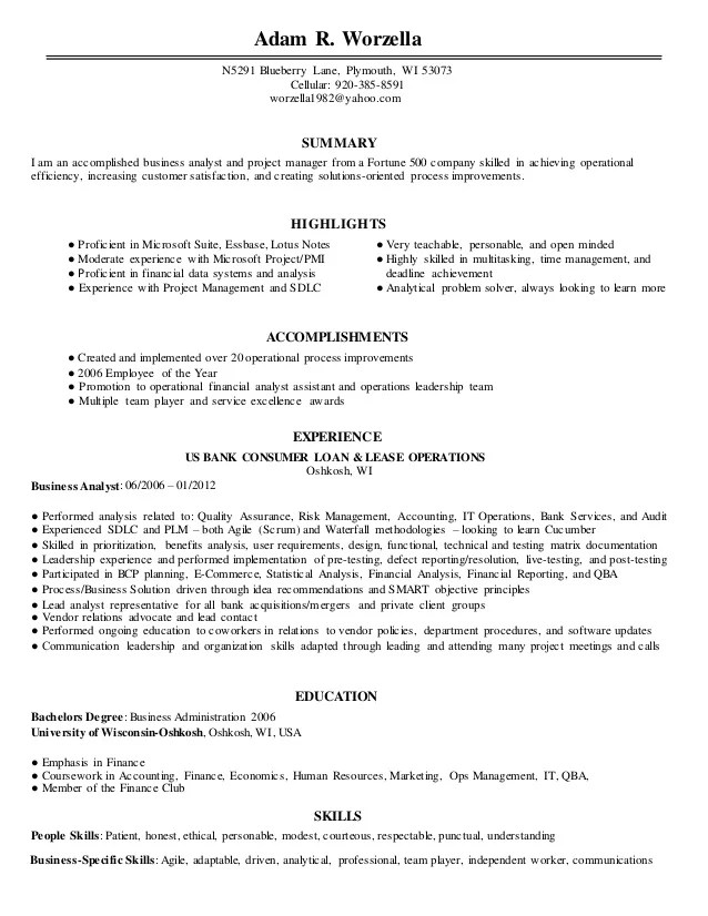 agile business analyst resumes - Ozilalmanoof - Agile Business Analyst Resume