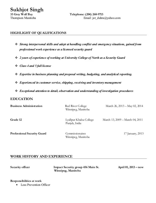 security guard job resume - Intoanysearch - college campus security guard sample resume