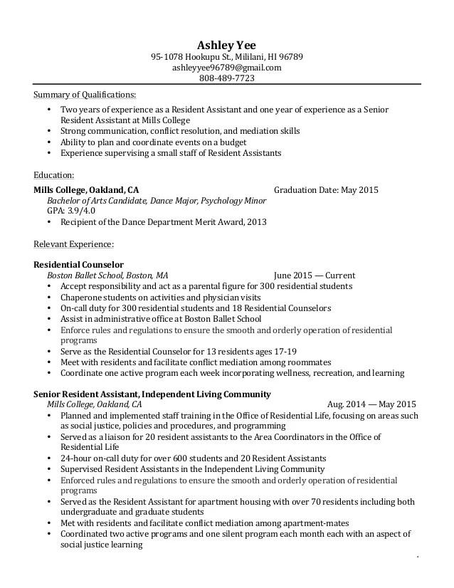 student affairs resume samples - Pinarkubkireklamowe