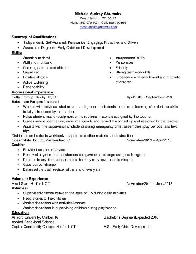 child care resume - Minimfagency - sample resume child care