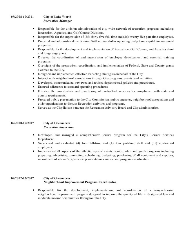 recreation resume - Funfpandroid