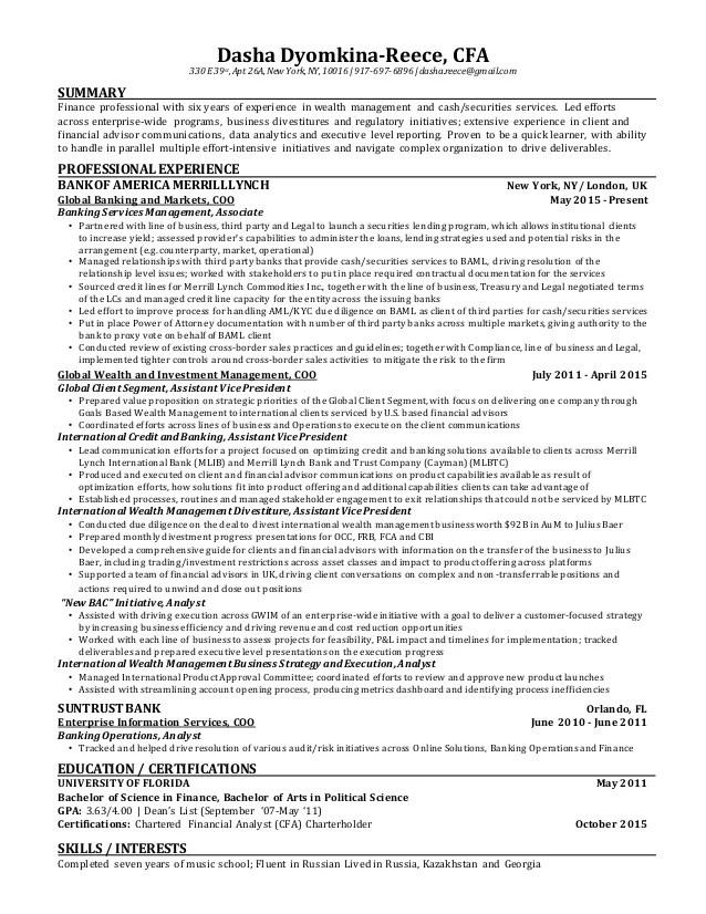 cfa on resume - Ozilalmanoof - cfa candidate resume
