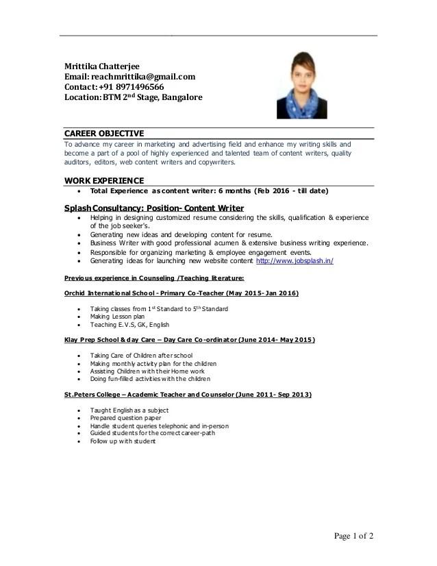 resume linkedin profile writer