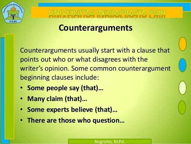 what is a counter argument - Apmayssconstruction