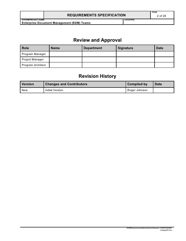 attractive program specification template images resume