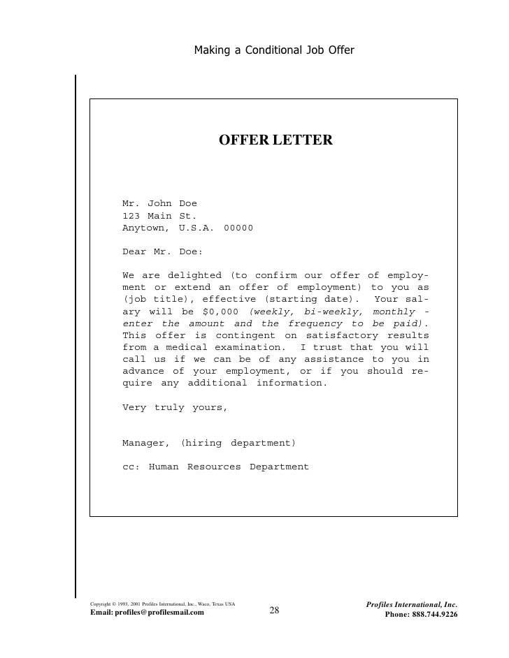 examples of job offer letters - Romeolandinez - job offer template letter