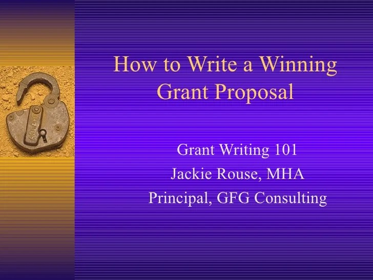 How To Write A Winning Proposal Inc Grant Writing 101