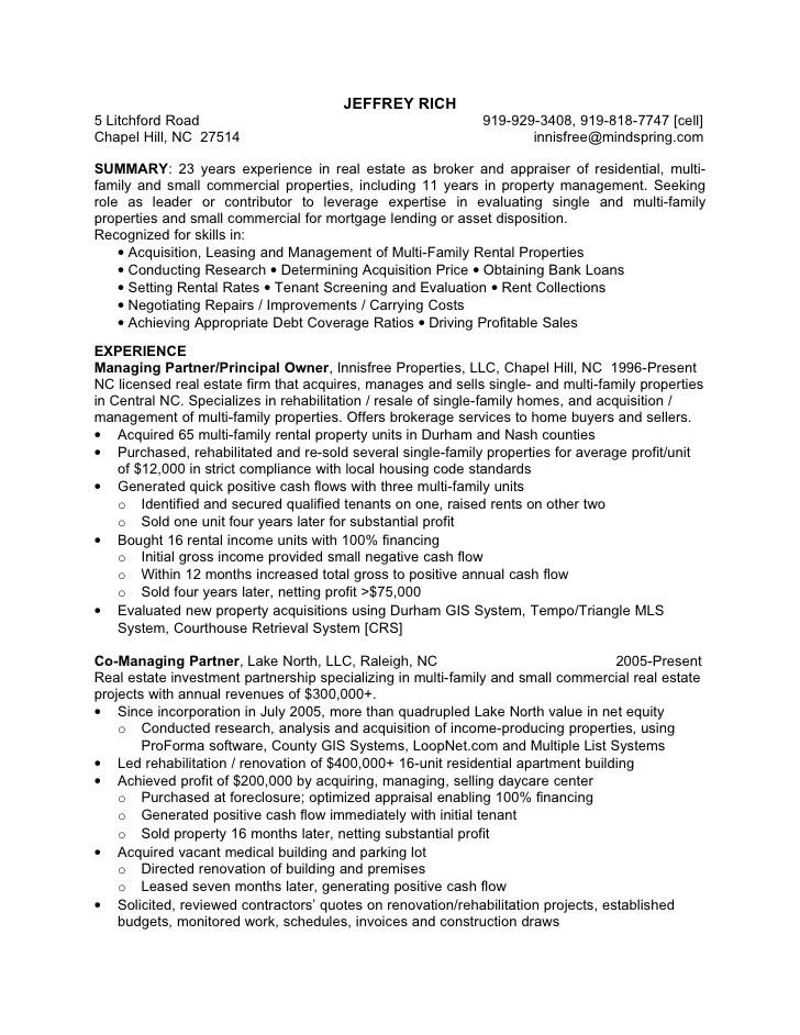 property management resumes template professional property
