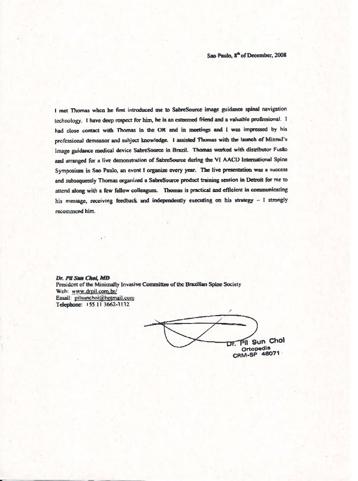 recommendation letter email