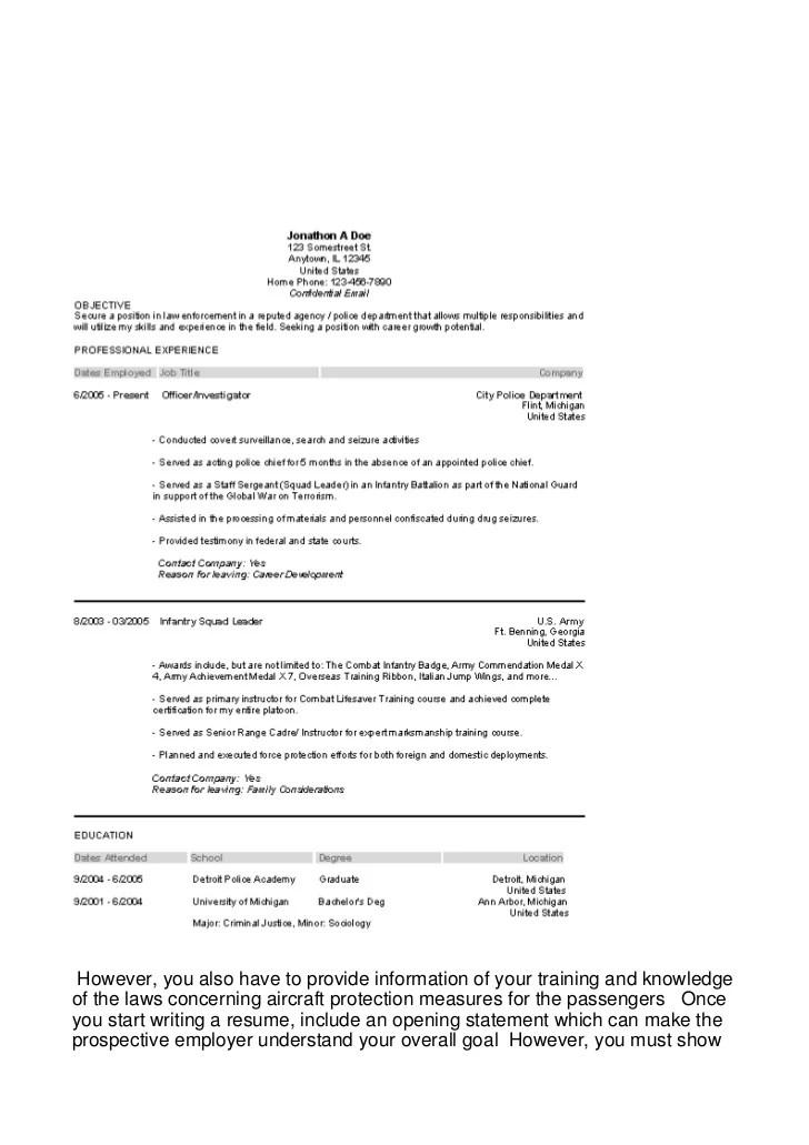 opening statement on resumes - Onwebioinnovate