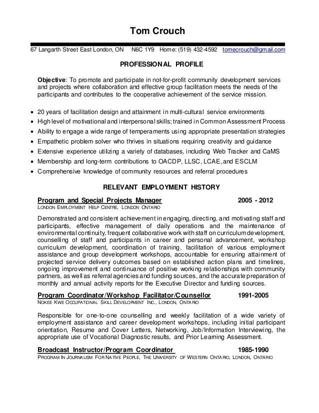 learning facilitator resume sample
