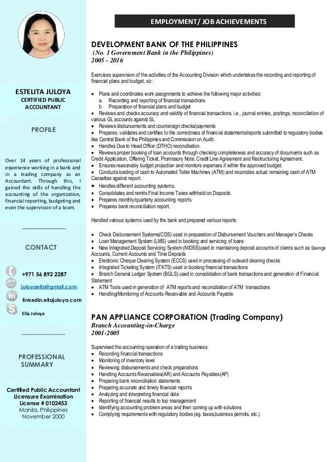 cv profile example francais