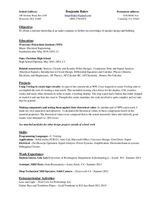 baker resume - Onwebioinnovate - baker resume
