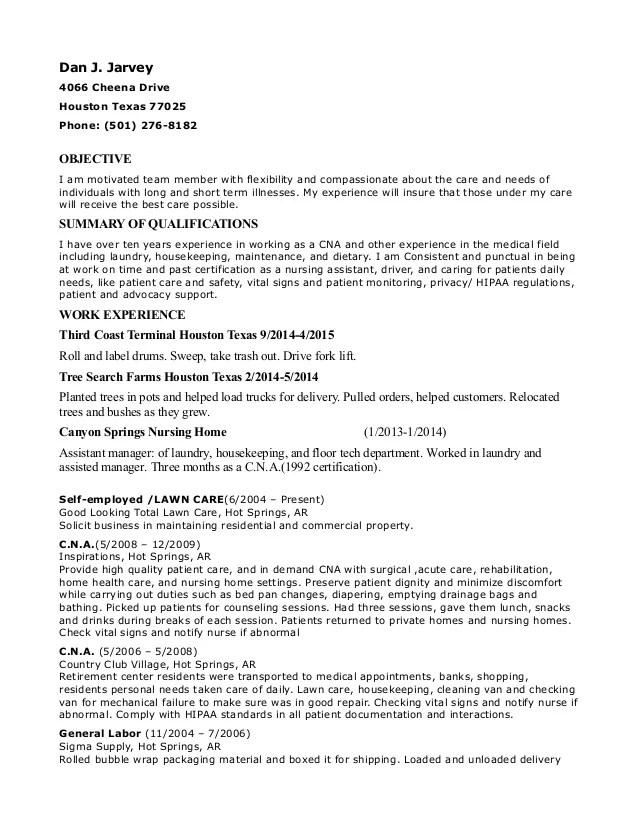 nursing home resume - Josemulinohouse - laundry assistant sample resume