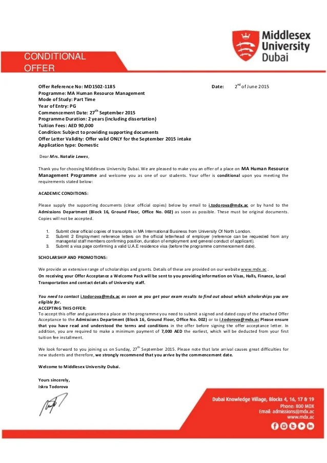 Executive Job Offer Letter Sample | Free Downloadable Resume Templates