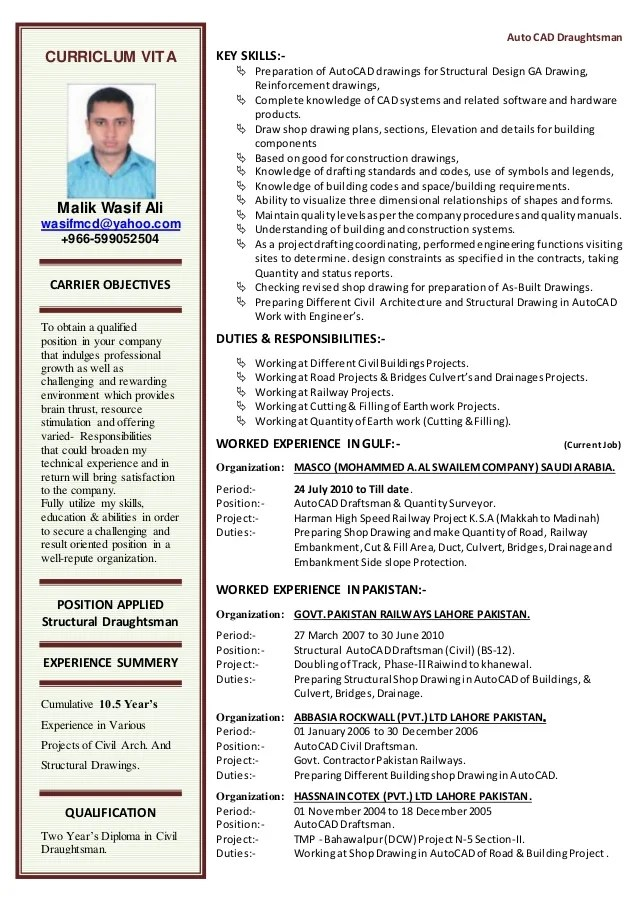draftsman resume sample - Minimfagency - draftsman resume