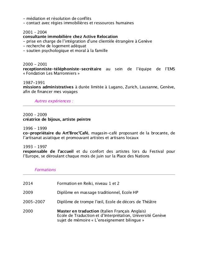 conversion cv francais en anglais