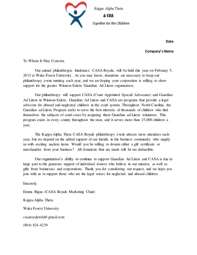 Event Sponsorship Letter This Example Sponsorship Request Letter