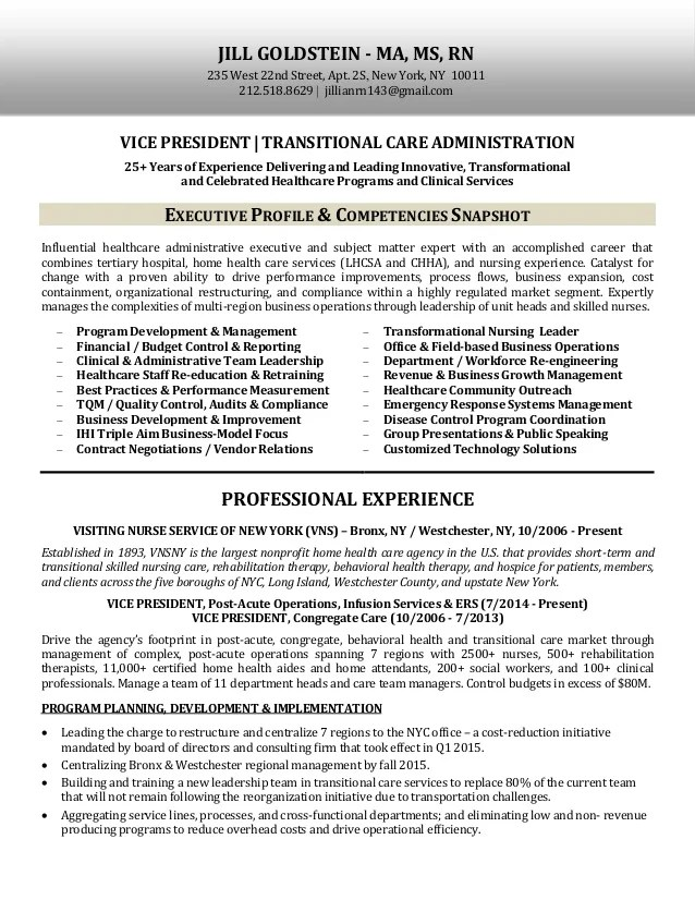 transitional resume examples