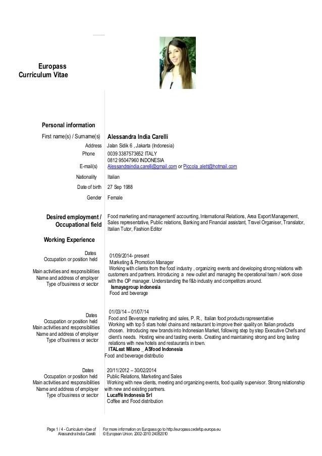 resume or cv in india
