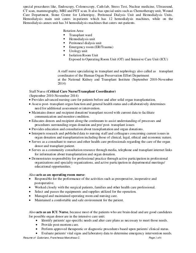 cath lab nurse resume example