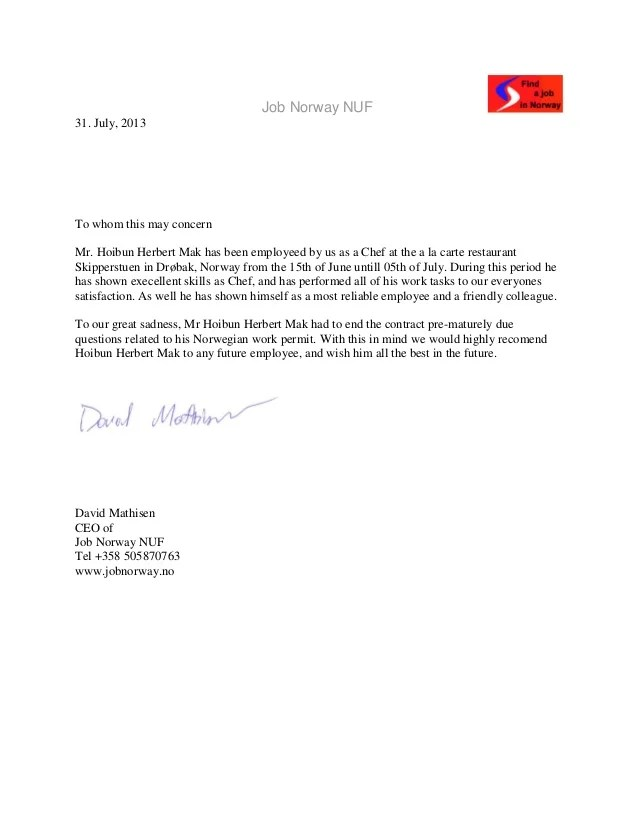 Letter Of Recommendation For Employee Images - letter format formal