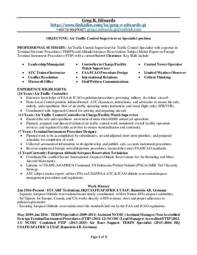 air traffic control resume - Ozilalmanoof