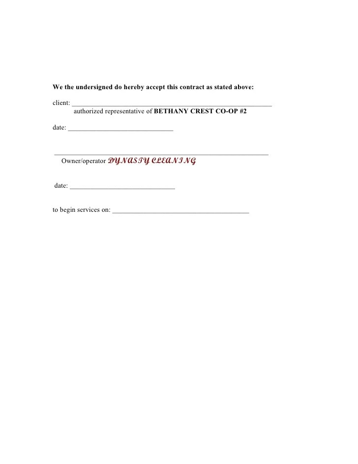 cleaning contracts template - Goalgoodwinmetals
