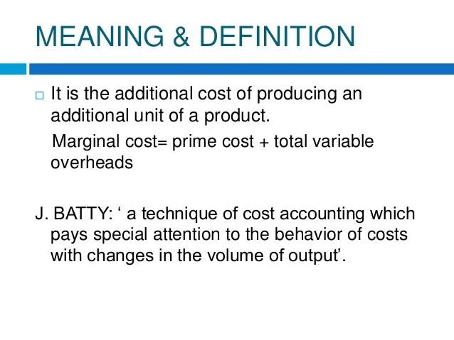 marginal cost accounting