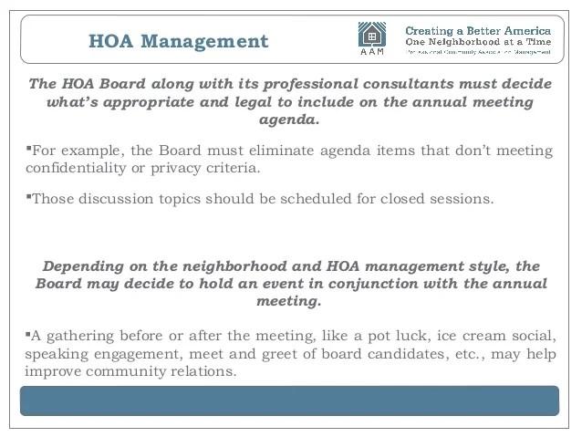 hoa meeting agenda template - Intoanysearch