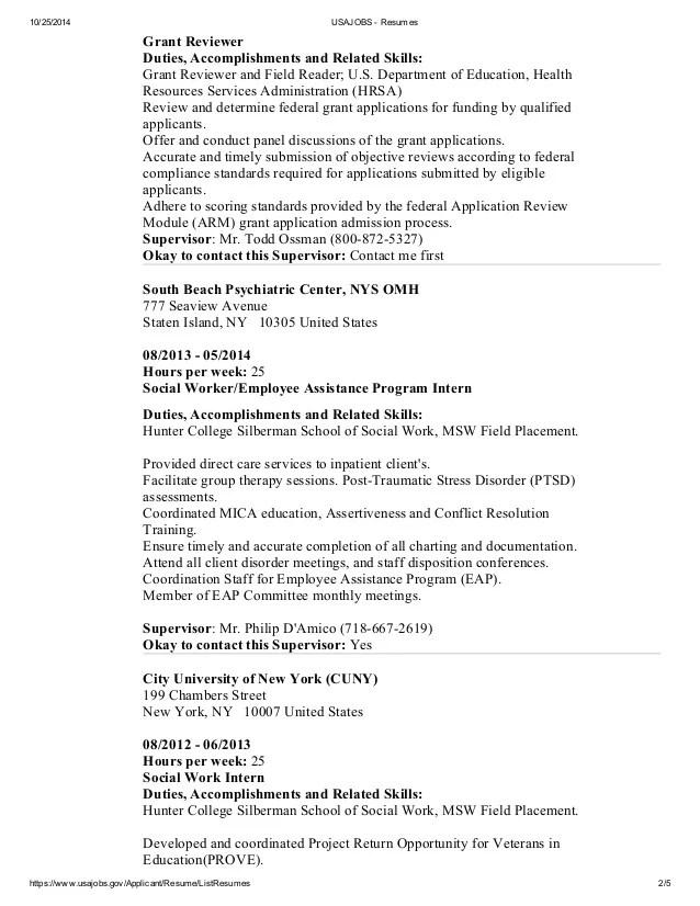 resume accomplishments grant