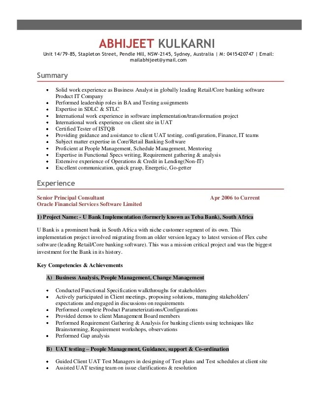 Qa Lead Resume Template - Apigram.Com