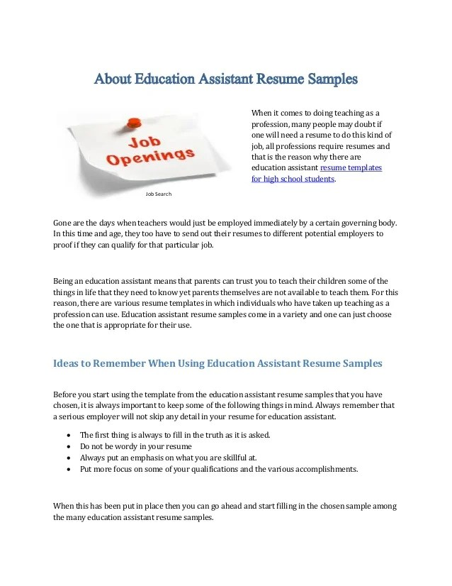 teaching assistant resumes - Minimfagency - teaching assistant resume