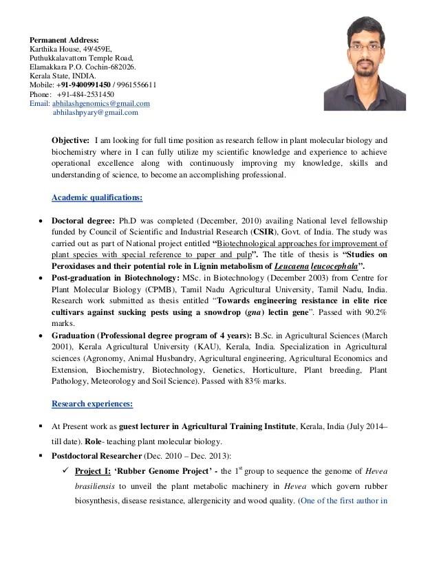 Plant Pathologist Sample Resume 6+ pathologist resume templates - plant pathologist sample resume