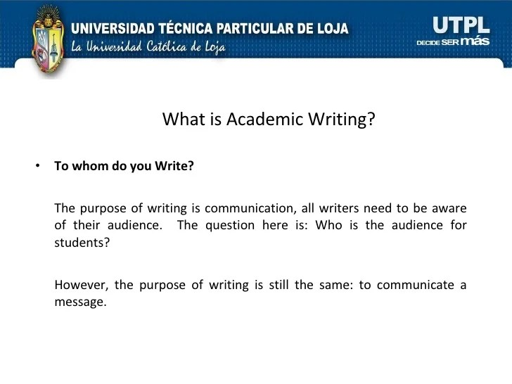 Academic Writing I Bimestre