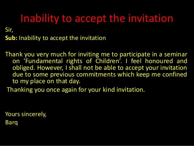 Thank You Very Much For Your Kind Invitation
