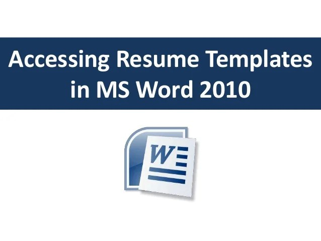 resume format on microsoft word 2010 - Minimfagency - microsoft word 2010 resume templates