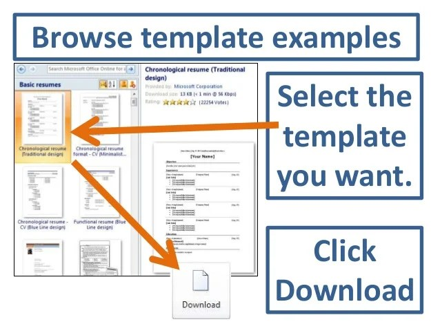how to get to resume templates on microsoft word 2010 - Canas