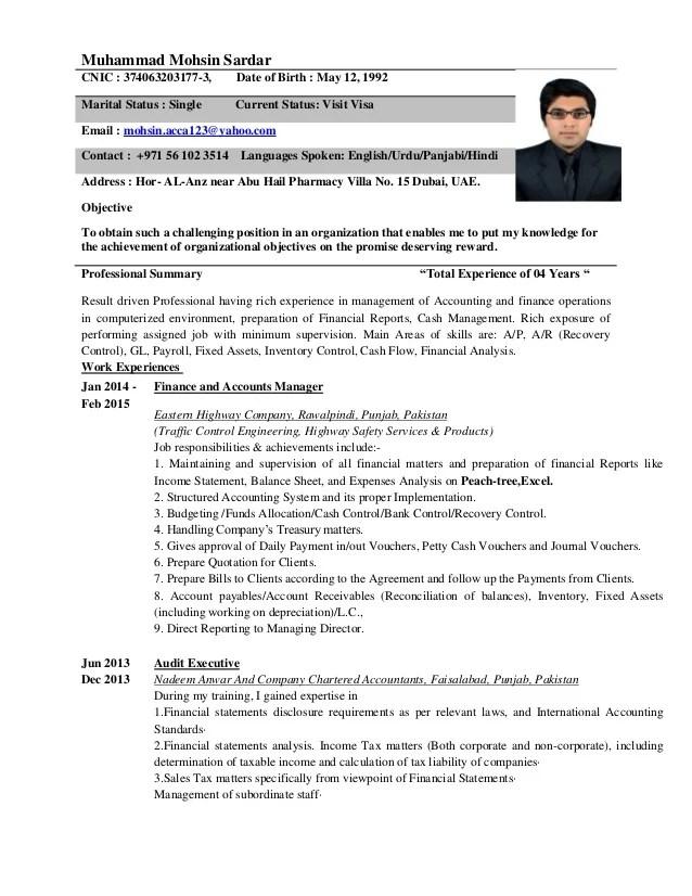 accountant cv - Ozilalmanoof - resume for accountant