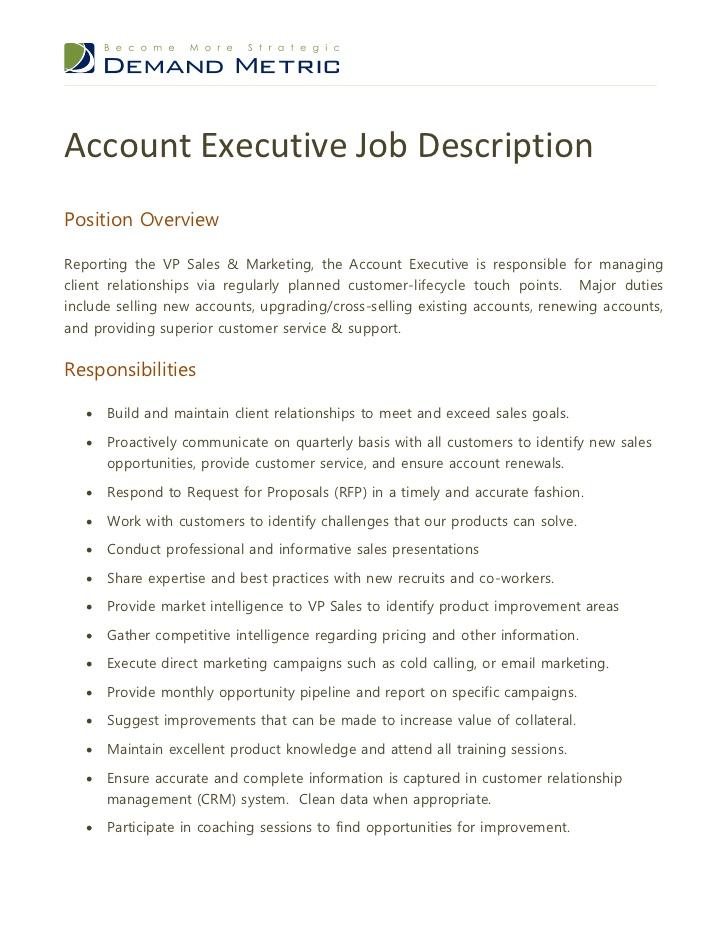 Sample Resume National Sales Manager Sales Account Manager Resume Example Account Executive Job Description