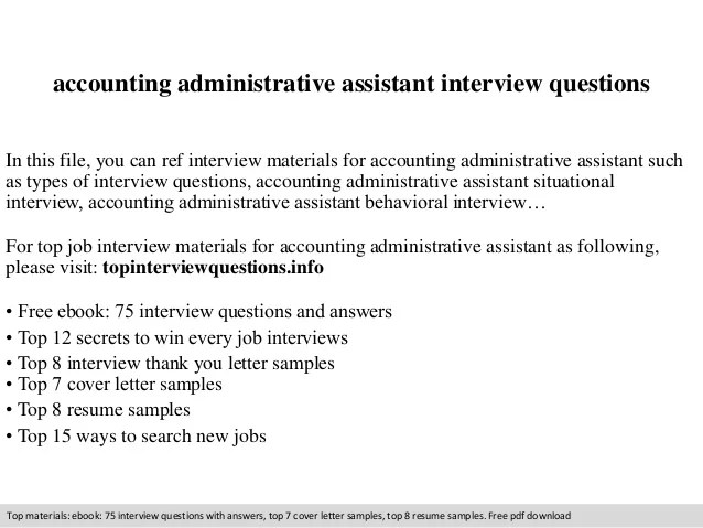 Structured Interview Guide Opm Accounting Administrative Assistant Interview Questions