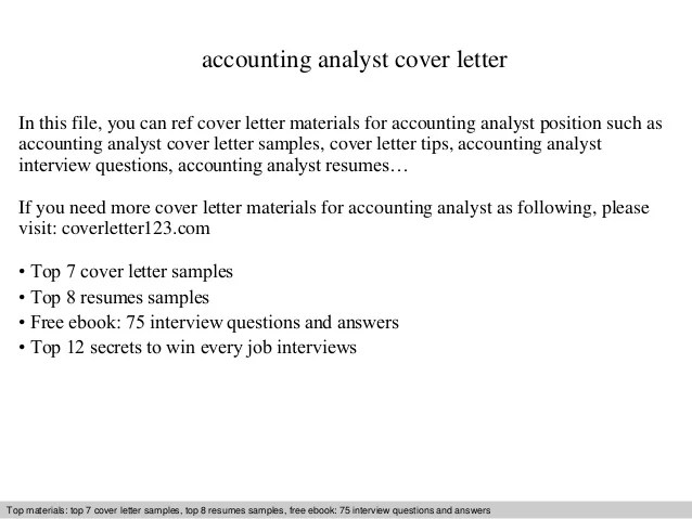 accounting analyst cover letter - Onwebioinnovate