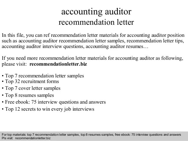 audit recommendation letter sample - Muckgreenidesign - Accounting Auditor Sample Resume