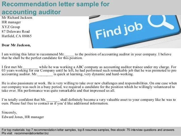cpa recommendation letter sample - Onwebioinnovate - free recommendation letter sample