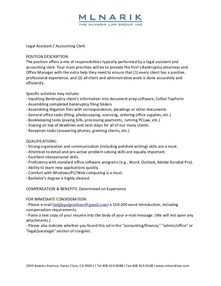accounting clerk responsibilities - Josemulinohouse