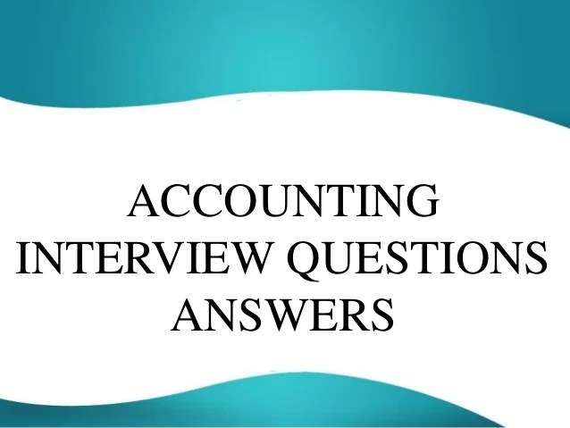 financial analyst interview questions and answers