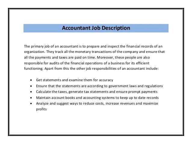 Job Description Assistant Manager Accounting – Accounting Job Description