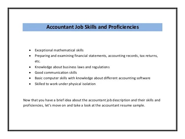 Resume Skills Accounting | Contoh Application Letter Beserta Artinya