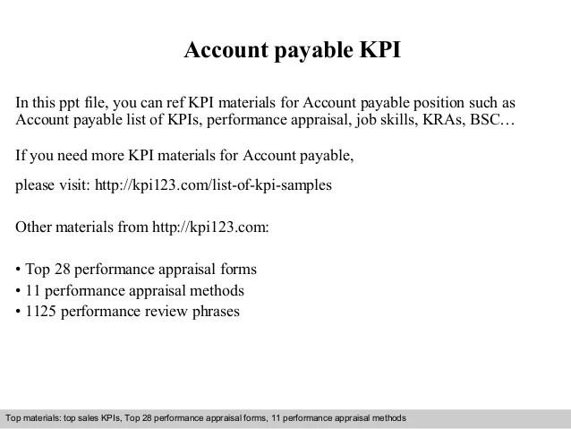 account payable duties - Onwebioinnovate - account payable job description