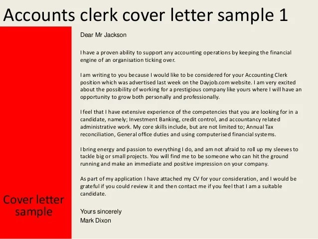 Accounts Clerk Cover Letter. SaveEnlarge